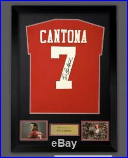 Manchester United Signed Eric Cantona Shirt 5 Only LeftSUPERB ITEM @ Only £225