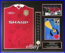 Manchester United Signed Framed 1999 Champions League Final Football Shirt