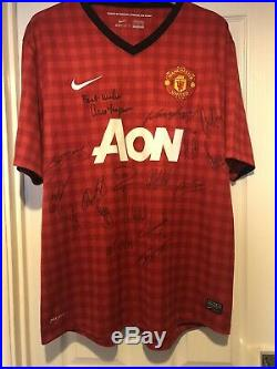 Manchester United Signed Replica Shirt 20th Title Wining Squad