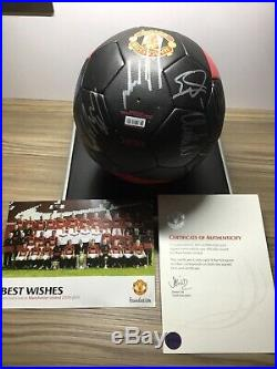 Manchester United Squad Signed Ball 2009-10 Official Club Issued Coa Rooney Etc