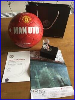 Manchester United Squad Signed Ball X20 Offical Man Utd Club Issued Coa Giggs