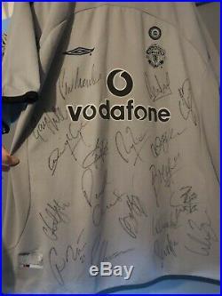 Manchester United Squad Signed Shirt Alex Ferguson Autographs Including Ronaldo
