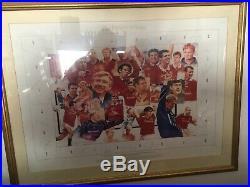 Manchester United The Ferguson Years signed framed print Beckham, Giggs, Keane