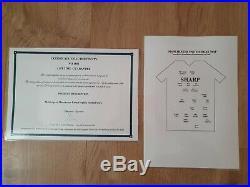 Manchester United signed certified LEGENDS 1999 treble shirt BEST, BECKHAM etc