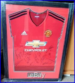 Manchester United signed shirt framed 2018/2019