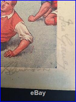 Manchester united 1953 Busby Babes Autograph Signed Duncan Edwards Pegg Byrnex14