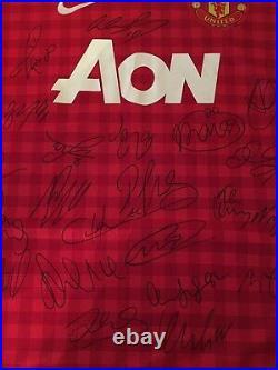 Manchester united 2012/13 shirt Signed. Size Medium