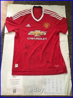 Manchester united signed shirt