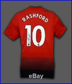 Marcus Rashford Hand Signed Manchester United Football Shirt