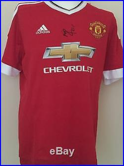 51fb9a3184e Marcus Rashford Hand Signed Manchester United Shirt 15 16 Man Utd ...