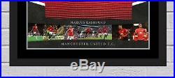 Marcus Rashford Signed & FRAMED Manchester United Shirt AFTAL COA (B)
