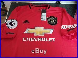 Marcus Rashford Signed Manchester United Home 2019/20 BNWT Shirt PROOF