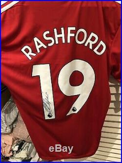 Marcus Rashford Signed Manchester United Jersey Signature Photo Proof