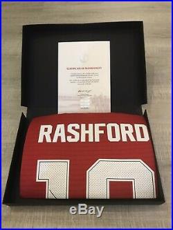 Marcus Rashford Signed Manchester United Shirt 18/19 Season With CoA