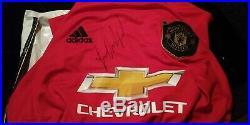 Marcus rashford signed manchester United shirt