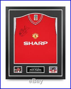 Mark Hughes Signed Shirt Framed Manchester United Autograph Jersey Memorabilia