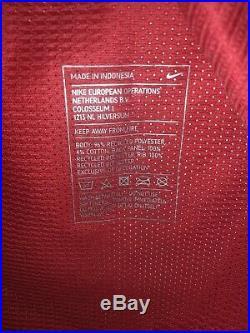 Match Worn Manchester United 2012/13 Paul Scholes Signed Pre Season Home Shirt