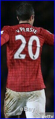 Match Worn Manchester United 2012/13 Van Persie Signed Home Shirt