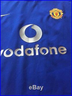 Match Worn and signed David Beckham Manchester Utd Shirt with authentication