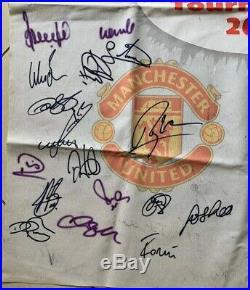 Multi Signed 2002 Amsterdam Tournament Banner X73 Manchester United Barcelona ++