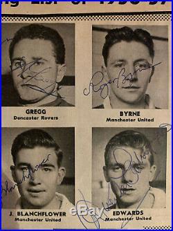 Multi Signed Busby Babes Duncan Edwards Roger Byrne ++ Manchester United FC
