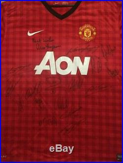 Multi Signed Manchester United Man Utd 2012 2013 Shirt Rooney Giggs Scholes