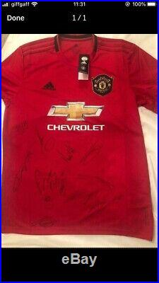 New Manchester United Signed Shirt