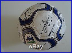 Ole Gunnar Solskjaer Hat trick Signed Football Manchester United V Bolton