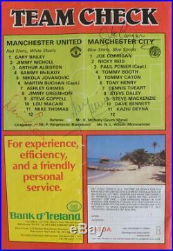 Original Signed 1980 Mitre Match Ball Manchester United V City Derby Football