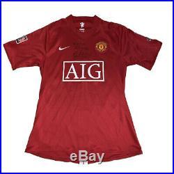 Patrice Evra match worn shirt signed FA Community Shield Manchester United shirt