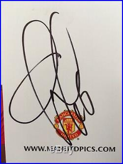 Paul Pobga Manchester United Signed Club Card Very Rare & Authentic Autograph