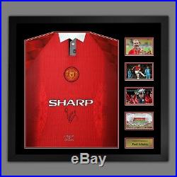 Paul Scholes Manchester United Signed Football Shirt In A Frame Presentation A
