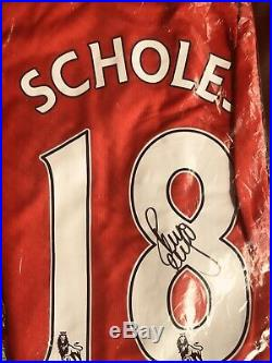 Paul Scholes Manchester United Signed Shirt With COA