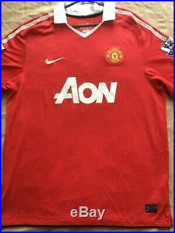 Paul Scholes Signed Manchester United Number 18 Home Shirt