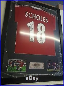 Paul Scholes Signed Manchester United shirt Treble season shirt 1999 mufc