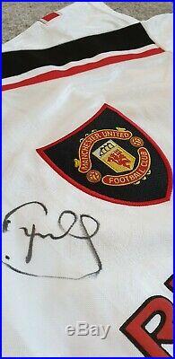 Peter Schmeichel Signed Manchester United Man Utd 1999 Treble Winning Shirt