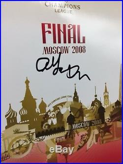 RARE Sir Alex Ferguson Manchester United Signed 2008 CL Final Programme + COA