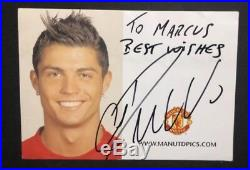 Rare Cristiano Ronaldo signed Man Utd Club Card / Manchester / Promo Photo Card