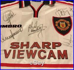 Rare, Genuine, Manchester United 1999 Treble Winners Squad Signed Shirt