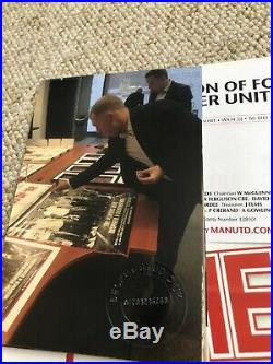 Rare Manchester United Hand Signed The Class Of'92 Poster Beckham Giggs Scholes
