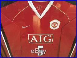 Rio Ferdinand Manchester United Football Shirt Signed Framed Man Utd England COA