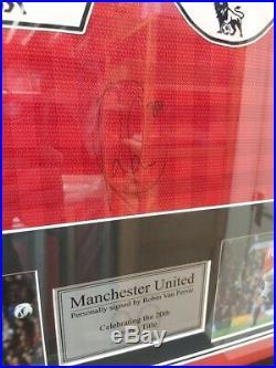 Robin Van Persie signed Manchester United Shirt Framed COA AFTAL RD
