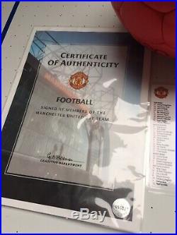 Ronaldo Manchester United Football Signed Scholes 15 COA Man Utd Ball 2007 2008
