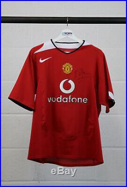 Roy Keane Signed Shirt Manchester United Autograph Jersey Memorabilia COA