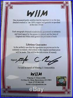 Roy Keane Signed Treble Manchester United Shirt