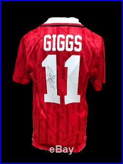 Ryan Giggs Signed Manchester United 11 Shirt See Proof & Coa Football Soccer
