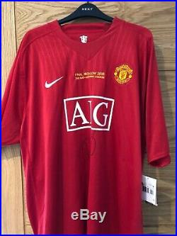 Ryan Giggs signed Manchester United shirt 2008 CL Final BNWT