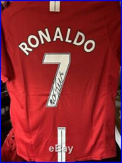 SIGNED CRISTIANO RONALDO MANCHESTER UNITED Shirt £299 Plus P&p With Coa