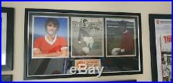 SIGNED George Best Manchester United picture display