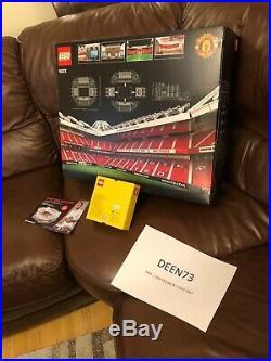 SIGNED LEGO CREATOR 10272 Old Trafford Manchester United + TRINITY